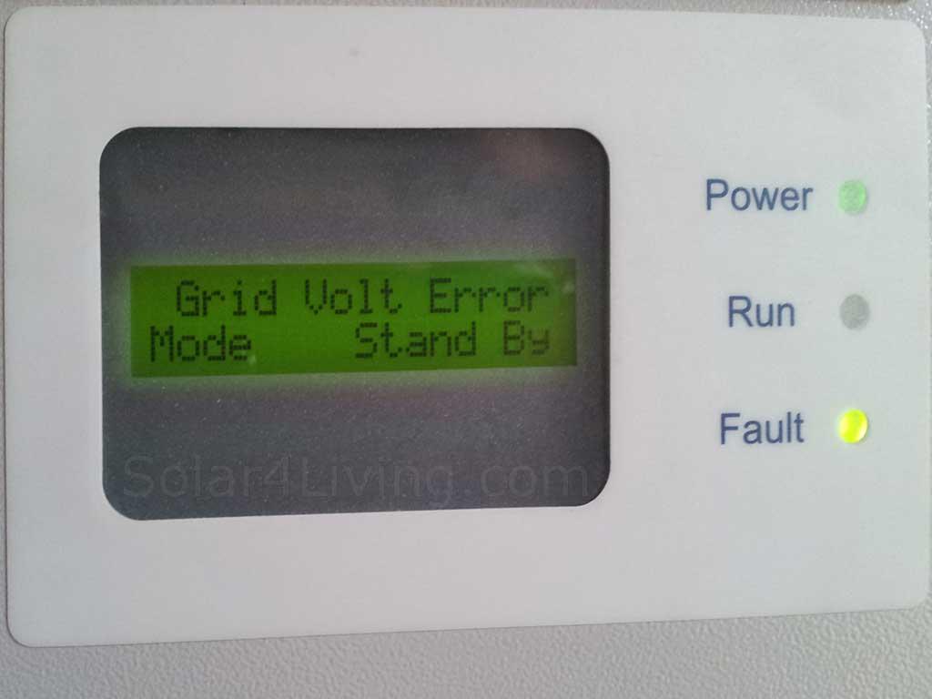 Aerosharp Grid Volt Error